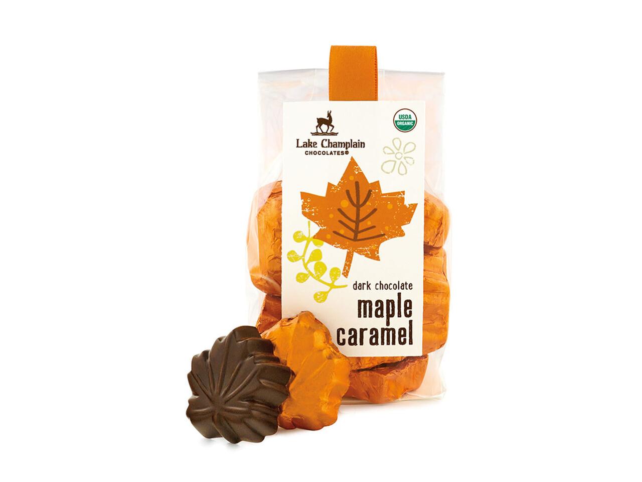 Lake Champlain Leaves Dark Maple Caramel Bag
