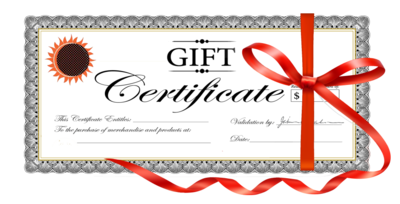 Gift certificates!!