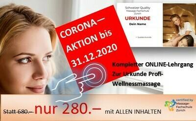 Online Profi Wellnessmassage lernen mit Schweizer Urkunde