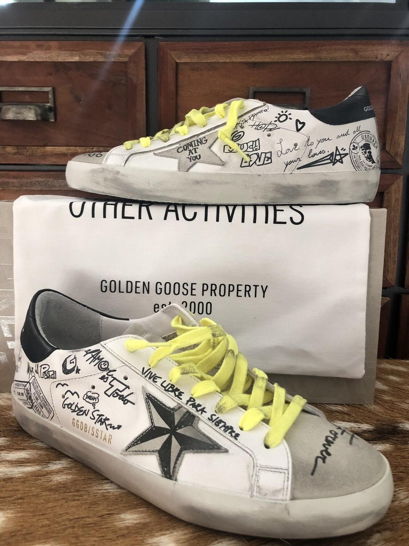 Sneakers - Golden Goose (Super-Star avec grafitti)