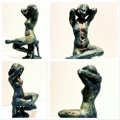 Det gyldne inni, skulptur i bronse
