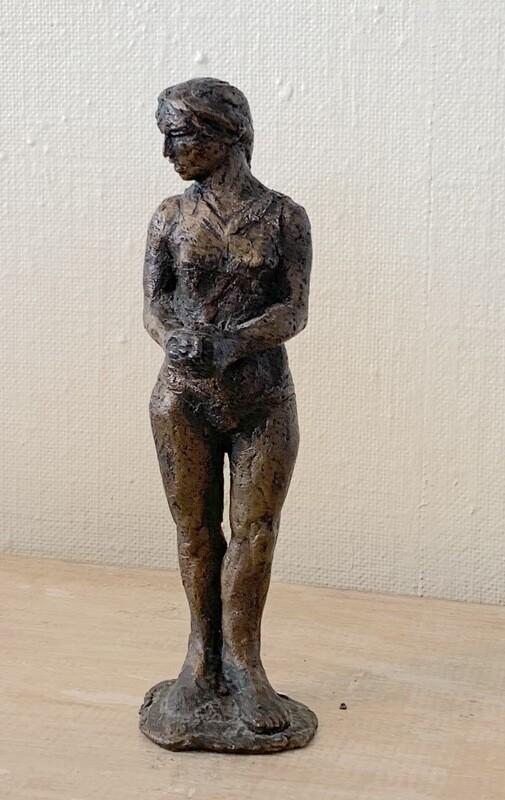 Morgenkaffe, Skulptur i bronse, Unikat