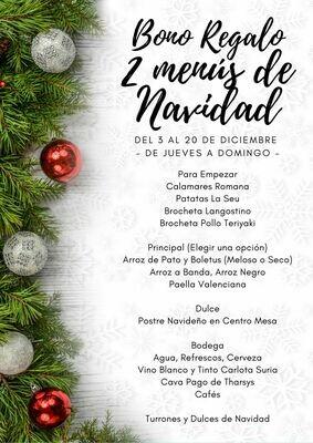BONO 2 MENUS DE NAVIDAD - LA ALQUERÍA DE LA SEU