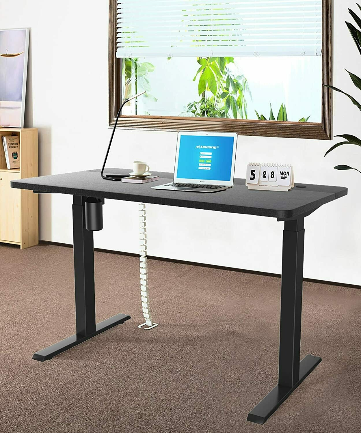 Maidesite Electric Height Adjustable Computer Desk Ergonomic Memory Controller Standing Height Adjustable Desk Top With 55
