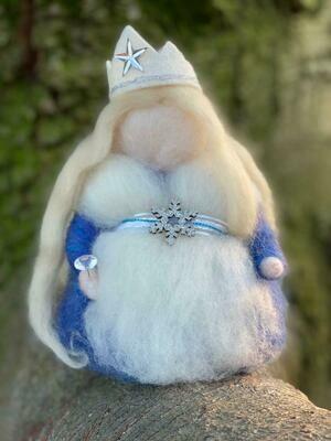 Reine hiver en laine feutrée