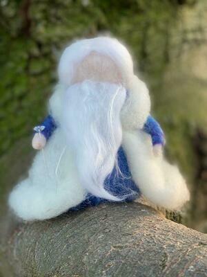 Roi hiver en laine feutrée