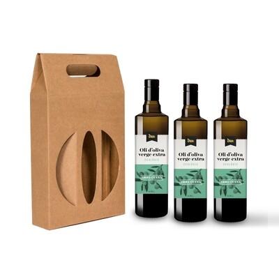 Pack 3 botellas de 0,75l  incluye estuche de cartón