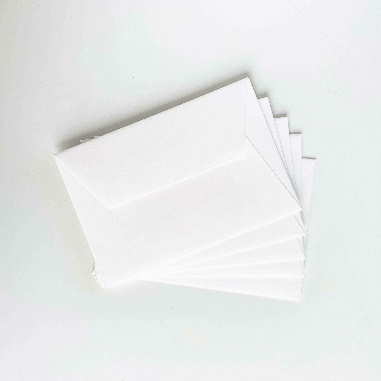 C6-Kuvert Bütte naturweiß | Set à 5 Stk.