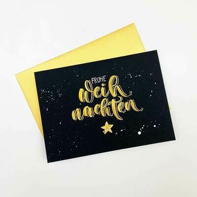"Karte ""Frohe Weihnachten"" handmade by Katja Haas"