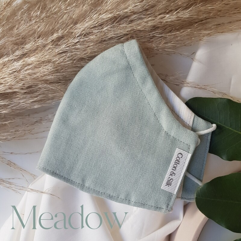 Kids Mask (Linen Rayon) - Meadow