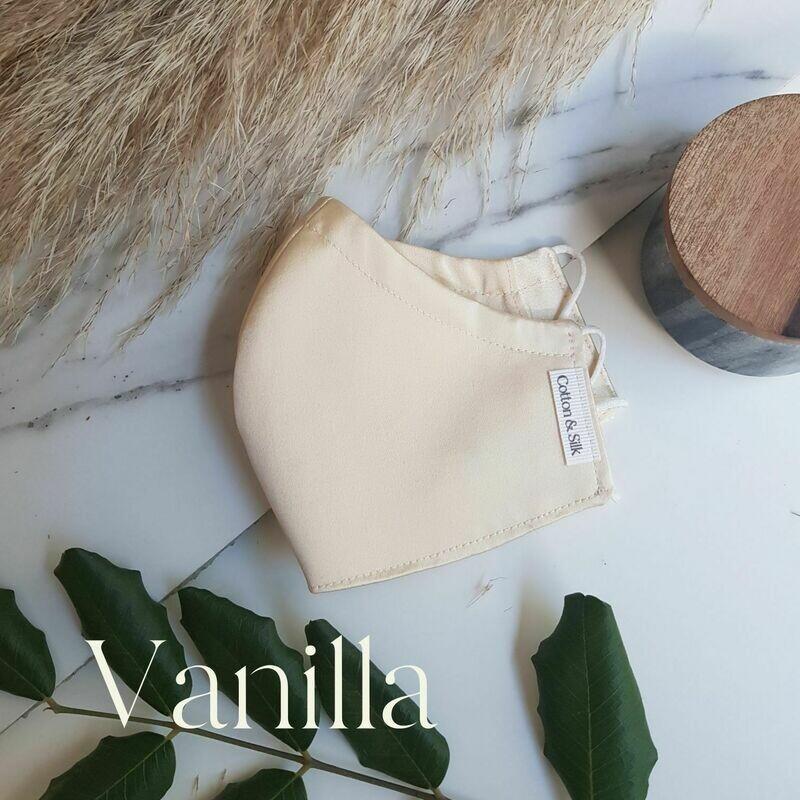 100% Pure Silk Face Mask - Vanilla