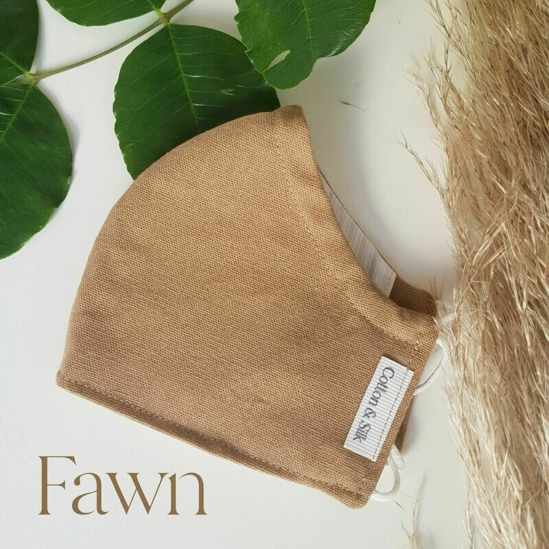 Ladies Mask (Linen Rayon) - Fawn