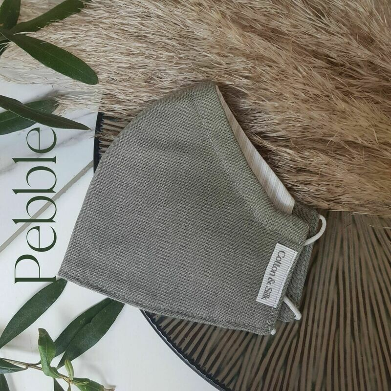 Mens Mask (Linen Rayon) - Pebble