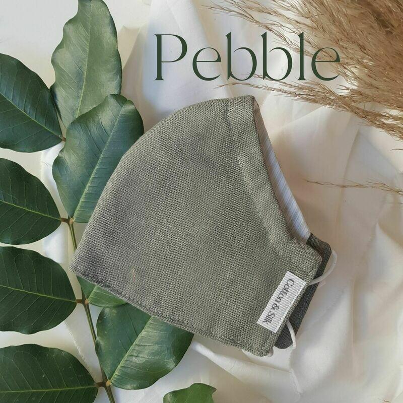 Ladies Mask (Linen Rayon) - Pebble