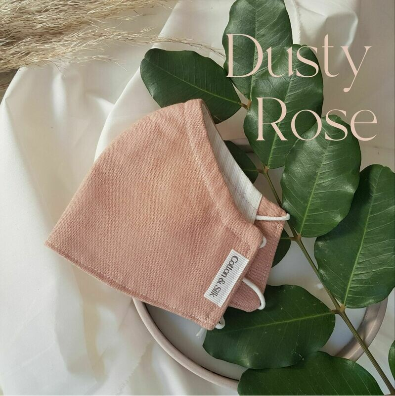 Ladies Mask (Linen Rayon) - Dusty Rose