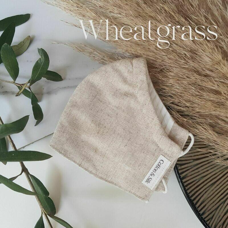 Mens Mask (Linen Rayon) - Wheatgrass