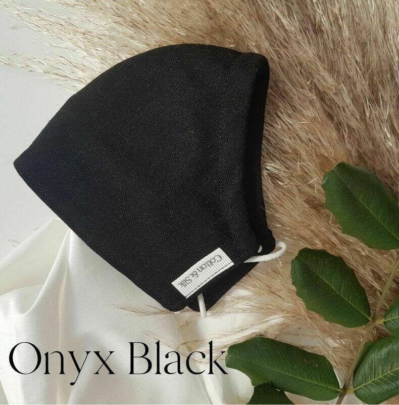 Ladies Mask (Linen Rayon) - Onyx Black