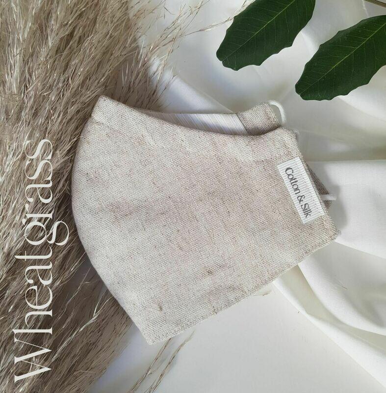 Ladies Mask (Linen Rayon) - Wheatgrass