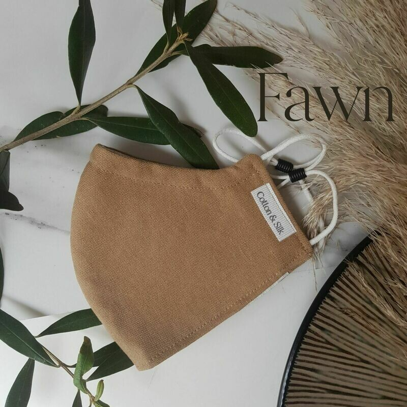 Mens Mask (Linen Rayon) - Fawn