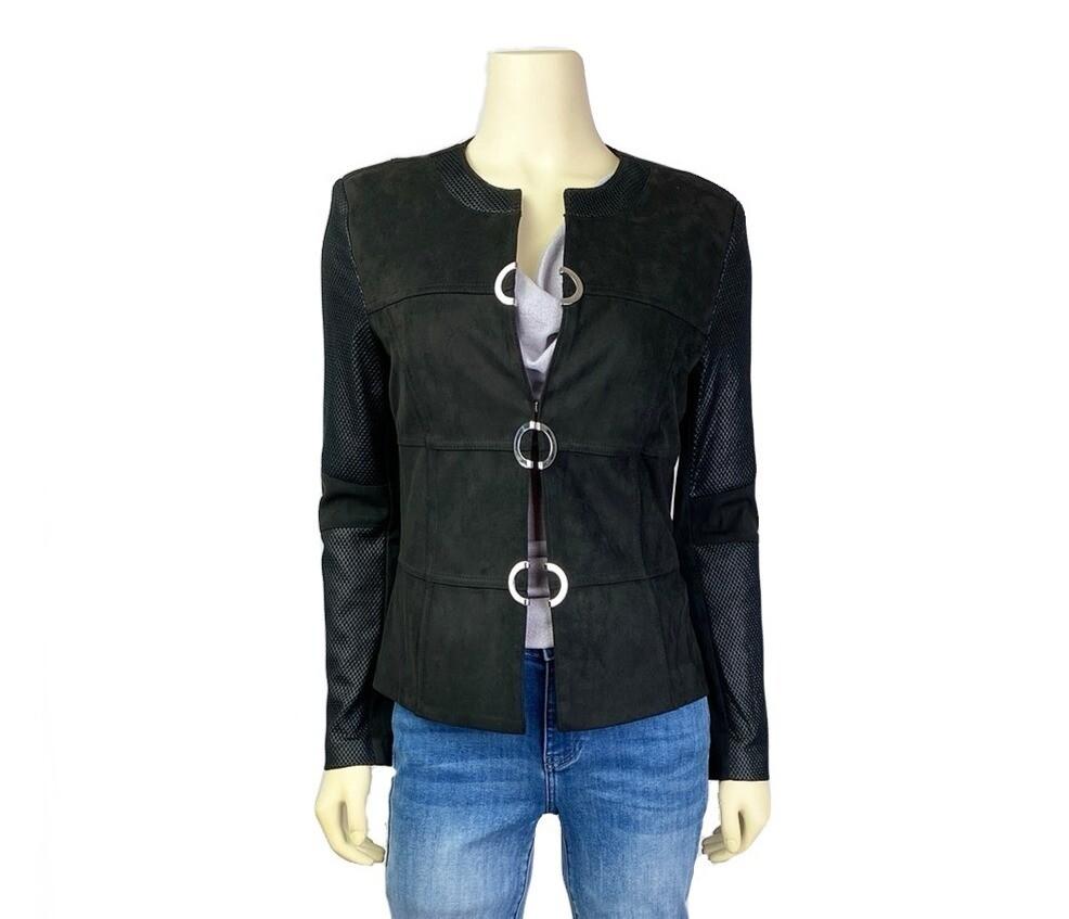 Contemporary Mesh & Suede Jacket