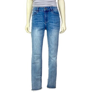 Fray Cross-Hem Jeans