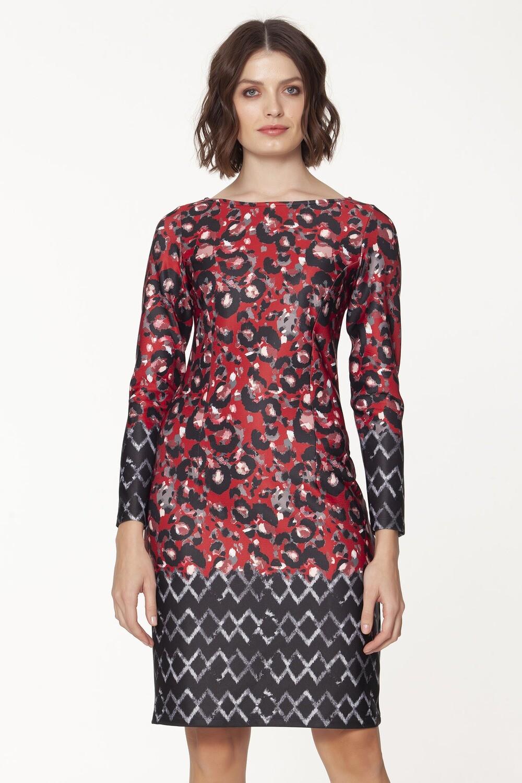 Long Sleeve Charming Scuba Dress