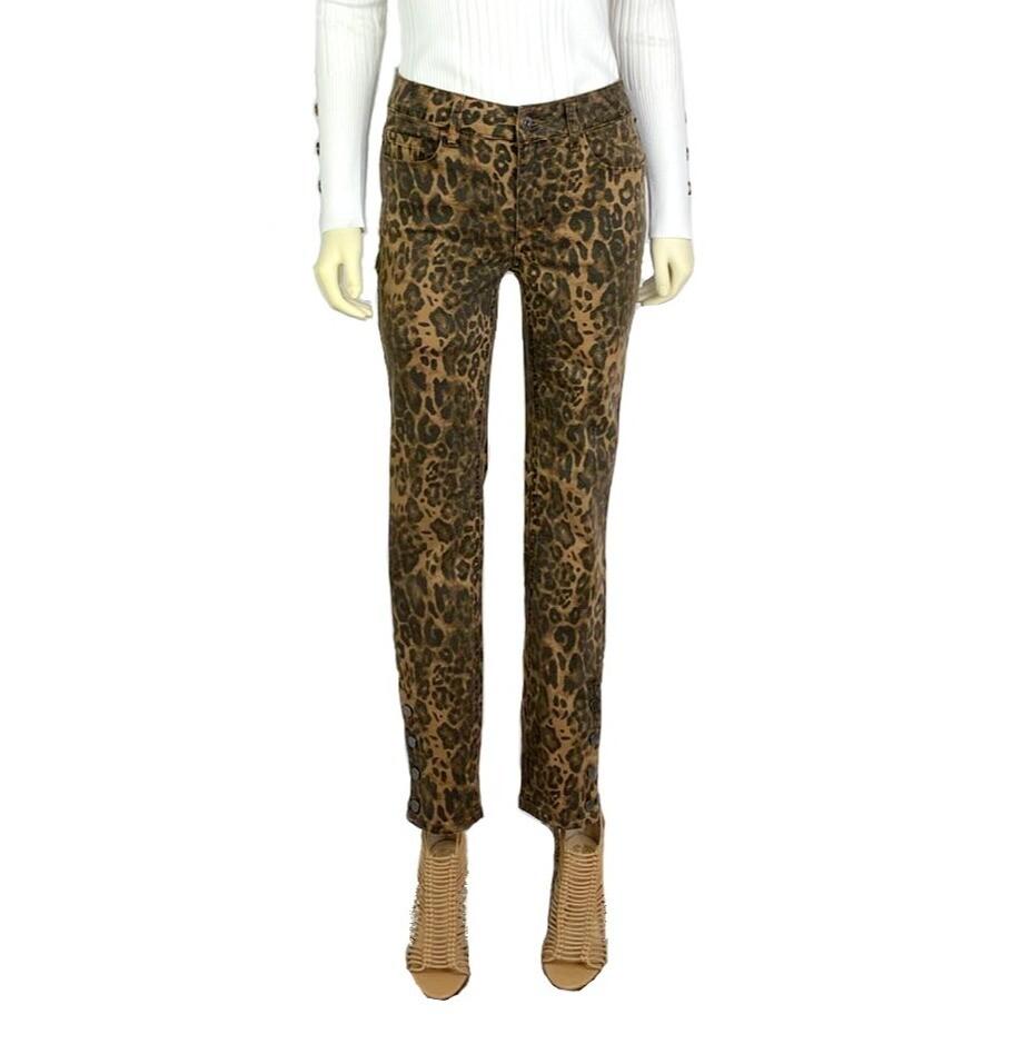 Jennifer Five Pocket Leopard Jeans