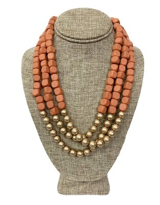 Two Toned Beaded Necklace