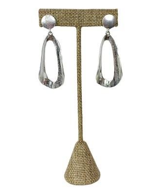 Oval Silver Earrings