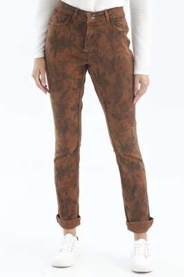 Reversible Toffee Palm Jeans