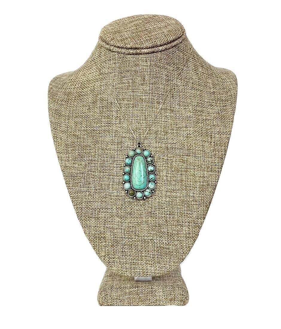 Turquoise Blue Pendant Necklace