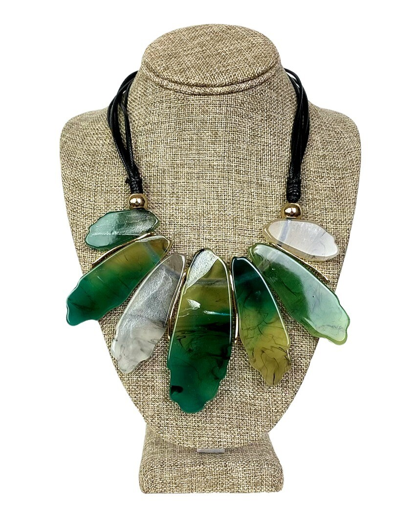 Reversible Resin and Wood Necklace