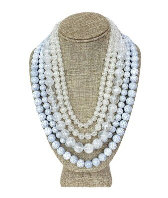 Multi-strand Glass Bead Necklace