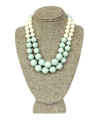 Matte Resin Bead Necklace