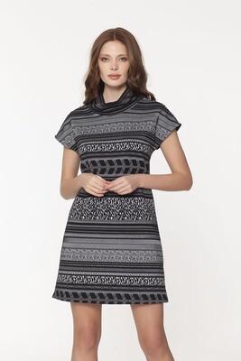 Dwyer Cowl Dress in Grandplace