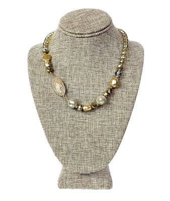 Jasper and Glass Bead Necklace