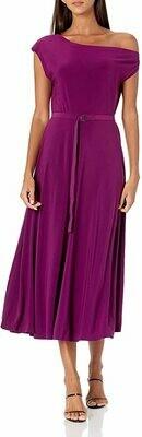 Drop Shoulder Flared Dress