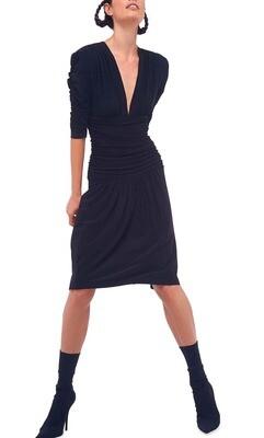 Shirred Sleeve/Waist Dress