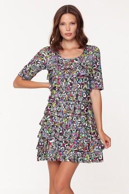 Short Sleeve Martini Cha Cha Dress