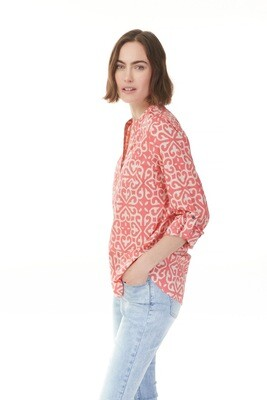 King Street Coral Voile Blouse