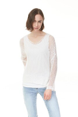 Christina's Crochet White Sweater