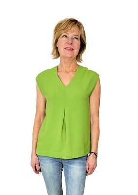 Gulf Shores V-Neck Shell Basil