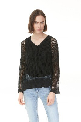 Christina's Crochet Black Sweater