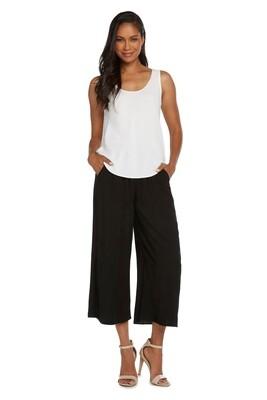 Key West Wide Leg Crop Pant in Black