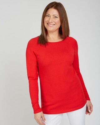 Destin Nights Sweater Strawberry