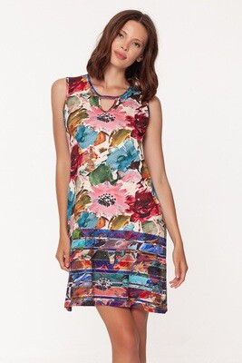 Grand Isle Keyhole Dress in Prickly Pear