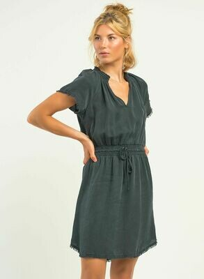 Emma Frayed Hem Detail Dress