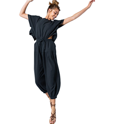 Carmen Gauze Black Jumper