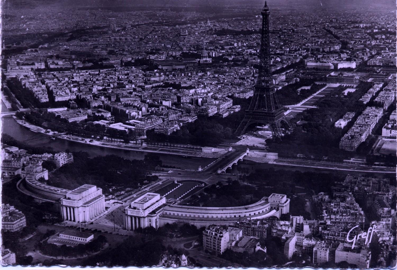 Paris, Eiffel Tower - Aerial view