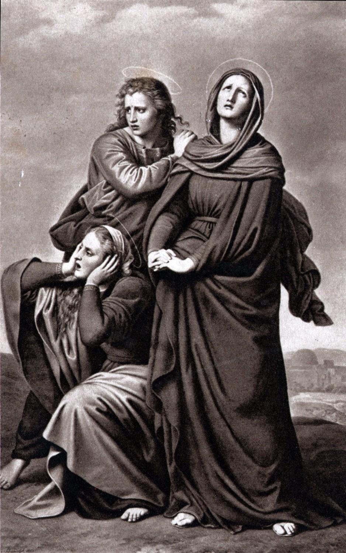 Painting - Mary, Mary Magdalene and John in Golgotha